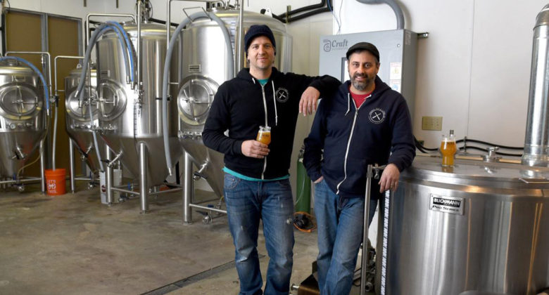 Photo by Kevin Rivoli, The Citizen. Aurora Ale & Lager Co. owners Mark Grimaldi, left, and Joe Shelton recently worked with the Cayuga Economic Development Agency to secure a small business loan for their brewery.