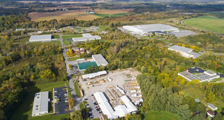 Aerial view of Auburn Industrial Development Authority's (AIDA) Technology Park located in Auburn, NY