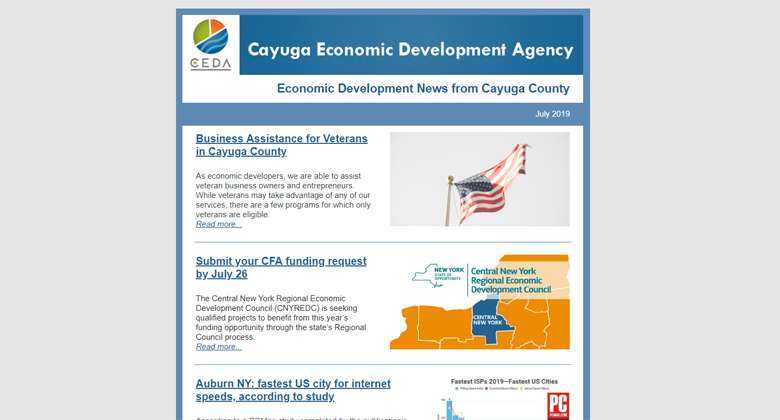 July 2019: Economic Development News from Cayuga County