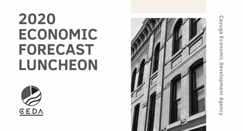 CEDA's 2020 Economic Forecast Luncheon will be held January 16 from 11:30 to 1:30 p.m. at Holiday Inn, Auburn, NY.