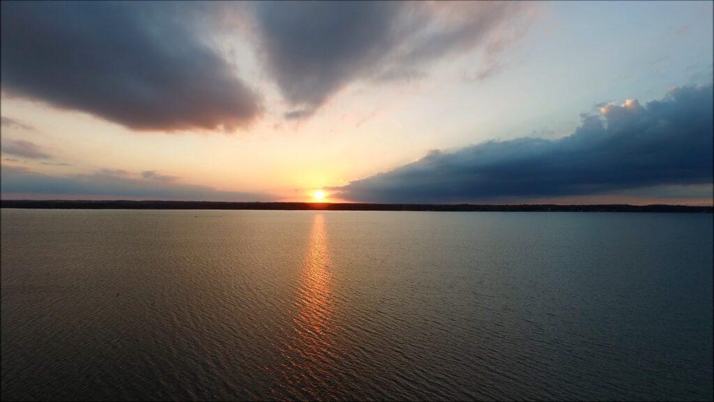 Sunset on Cayuga Lake, Cayuga County New York State